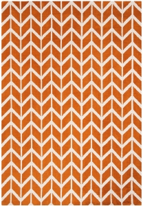 Dywan poliestrowy 100x150 cm Arlo Chevron Orange